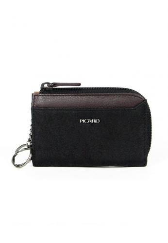 Picard black Munich Zip Around Wallet PI517AC85CGWSG_1