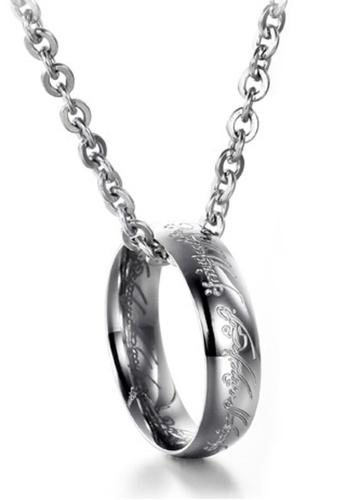 Trendyshop silver Evil Ring Necklace TR116AC2V54THK_1