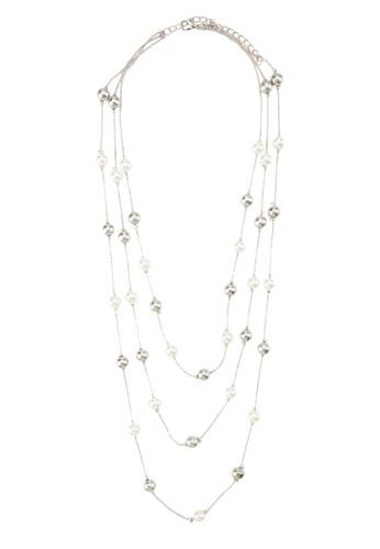 珍珠閃飾層次項鍊, 飾品配件, zalora退貨項鍊