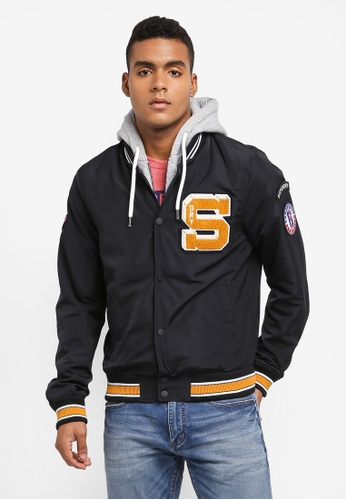 Superdry navy Upstate Bomber Jacket D7D42AA7949F60GS_1