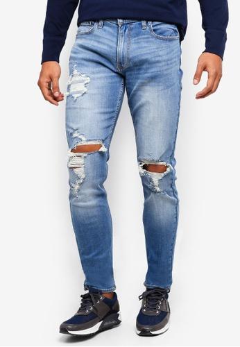 Hollister 海軍藍色 緊身牛仔褲 D560BAABD9EDB1GS_1