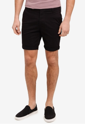 78310caf8c Shop Topman Black Stretch Slim Chino Shorts Online on ZALORA Philippines