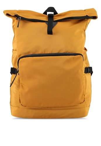 River Island yellow Roll Top Backpack 0C8CCAC57E7C53GS_1