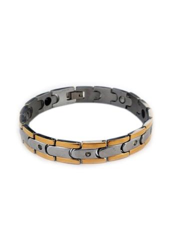 Elfi silver Elfi Stainless Steel Magnetic Power Energy Health Bracelet Bangle 01 EL186AC0RTD5MY_1