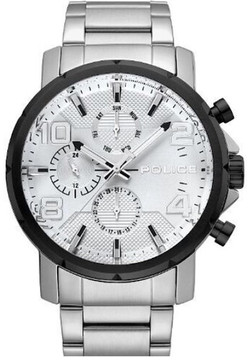 Police silver Police gent's super metal watch  - PL15459JYSTB/04M-A F02F3AC1346CF2GS_1