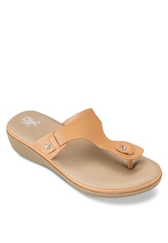 楔型跟夾esprit門市地址趾拖鞋涼鞋, 女鞋, 鞋