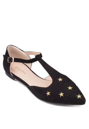 Tzalora 泳衣 字帶尖頭平底鞋, 女鞋, 芭蕾平底鞋