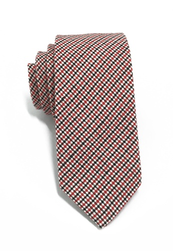 Splice Cufflinks Goober Series Red Black & White Cotton Tie SP744AC03LPSSG_1