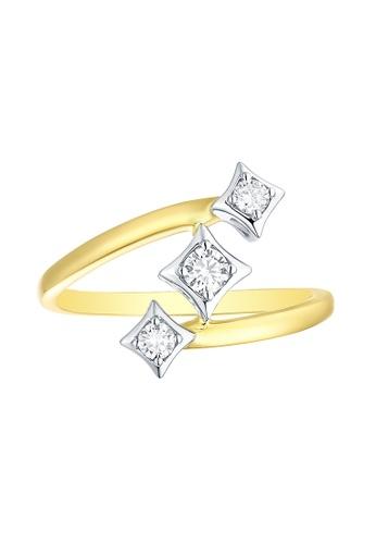 Smiling Rocks multi 14K White-Yellow Gold 0.22ct Lab Grown Diamond Sparkle Ring 5E09DAC67B3F53GS_1