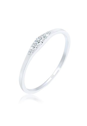 ELLI GERMANY silver Elli Germany Ring Engagement Ring Diamond (0.09 Ct.) 925 Sterling Silver B7E6BAC5E6E806GS_1