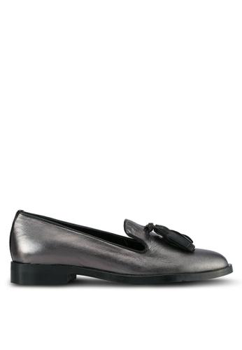 Carvela KG grey Gunmental Leather Shoes CA459SH0SCKSMY_1