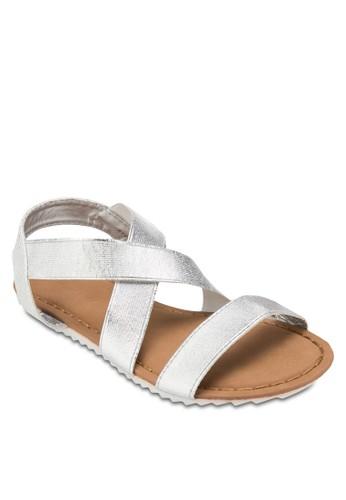 Potts 彈性交叉踝esprit門市地址帶涼鞋, 女鞋, 鞋