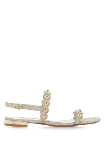 cost charm look out for buy good Scallop Dome Stud Flat Sandal