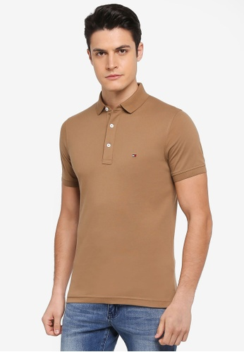 Tommy Hilfiger brown TOMMY SLIM POLO A97F8AA785065AGS_1