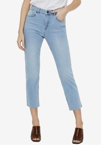 Noisy May blue Jenna Straight Ankle Jeans 93023AA37D2EC0GS_1