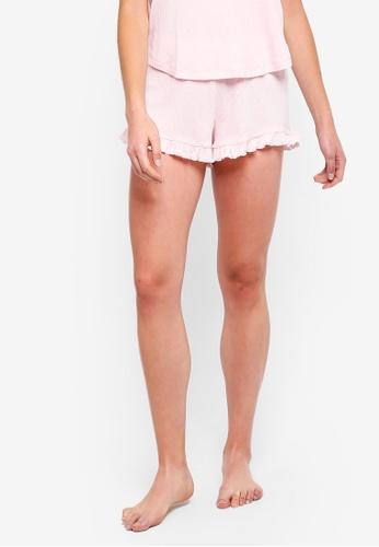 Cotton On Body pink Rib Frill Shorts B9F7AAAE6FEA40GS_1