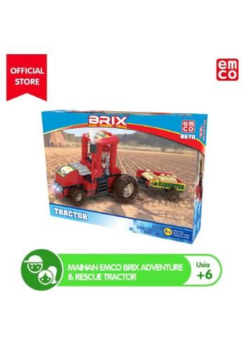 EMCO n/a Mainan EMCO Brix Adventure & Rescue Tractor 75A4ETHC389A5FGS_1