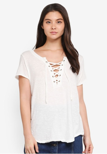 Billabong white Let Loose Top 52937US3895AA0GS_1