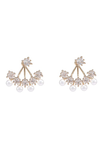 Call It Spring white Eowilan Pierced Earrings FEB0EAC335AB77GS_1