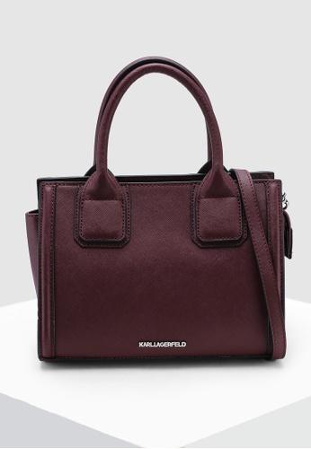 cd6594320e86 KARL LAGERFELD red Klassik Mini Tote Bag 48700AC8347783GS 1