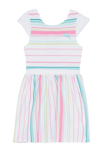 Du Pareil Au Même (DPAM) white Stripe Dress E8B6CKAD8EF419GS_1