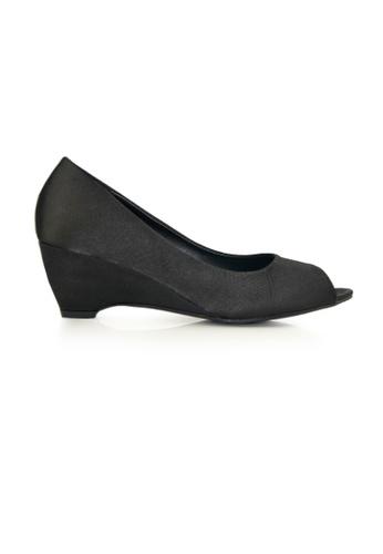 SHINE black Peep Toe  Wedge Pumps SH554SH0FVLASG_1