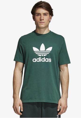 adidas green adidas originals trefoil t-shirt AD372AA0SUOXMY_1
