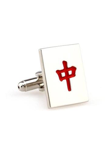 The Little Link Cufflinks red Mahjong Zhong cufflinks TH089AC0GM1NSG_1