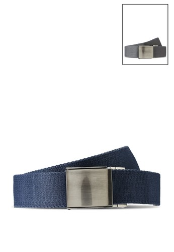 Superdry grey and navy Reversible Canvas Belt - Sportstyle Code 06FC2AC5531B2CGS_1