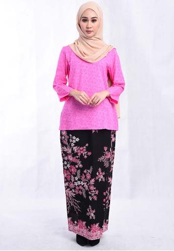 BATIK HOUSE KURUNG KEDAH TRADISIONAL BHKT01-101 (PINK) from batik house my in Pink