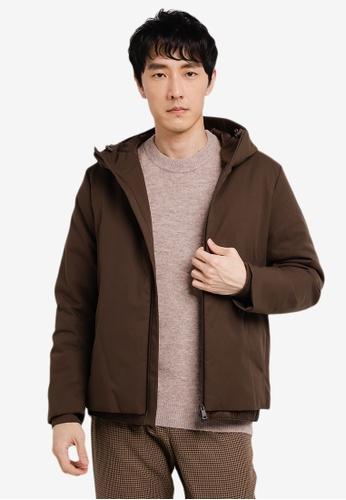 GLOBAL WORK brown Woven Blouson Jacket 9E60EAAD693761GS_1