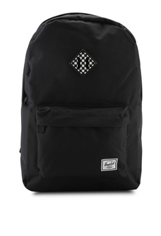 39398295494 Herschel black Heritage Backpack 1A012AC056980BGS 1