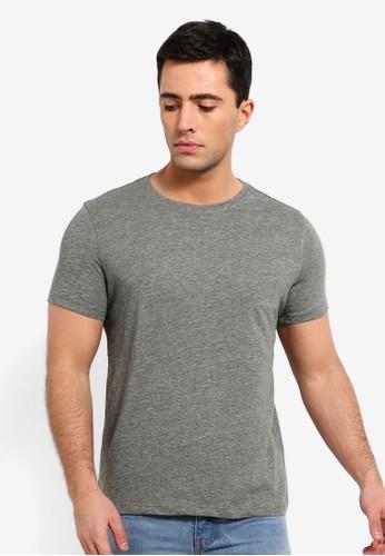 OVS green Linen And Cotton Blend Melange T Shirt C2B4DAA5CDA4A6GS_1