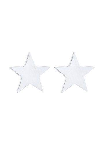 Elli Germany silver Elli Germany Earrings Matte Star Astro Basic 925 Sterling Silver 7DB0DACD264793GS_1