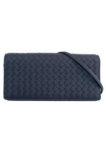 Bottega Veneta blue Bottega Veneta Intrecciato Crossbody Bag in Dark Blue 7AD5EAC53DD14AGS_1