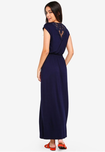 Dorothy Perkins navy Crochet Back Maxi Dress 7C5BBAA7D5068BGS_1