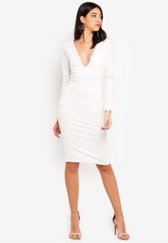 2d837875e4c0 Shop MISSGUIDED Ponte Long Sleeve Midi Dress Online on ZALORA Philippines
