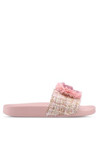 Guess pink Welly Sliders 7159BSH55B1D58GS_1