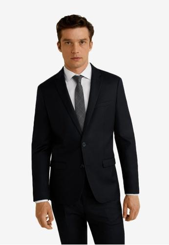 Mango Man 黑色 Super 修身Suit 西裝外套 FEC36AA047080BGS_1