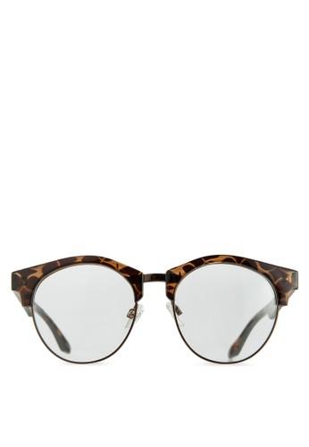 玳瑁半框平光眼鏡, 飾品配件, 飾zalora taiwan 時尚購物網鞋子品配件