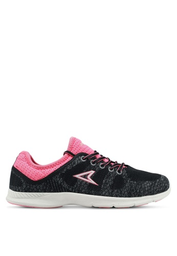 Power black and grey and pink Power Womens Running Shoes 97E59SH5E82E9CGS_1