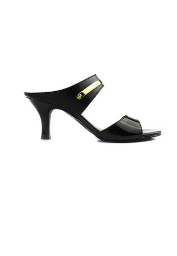 SHINE black Open Toe Slip On Mid Heels 1DDD3SHD154A56GS_1