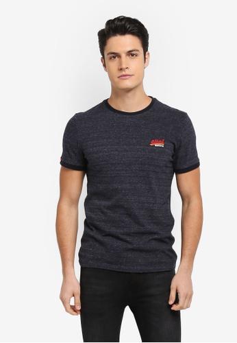 Superdry 海軍藍色 短袖Logo刺繡T恤 A71A1AA1565D51GS_1