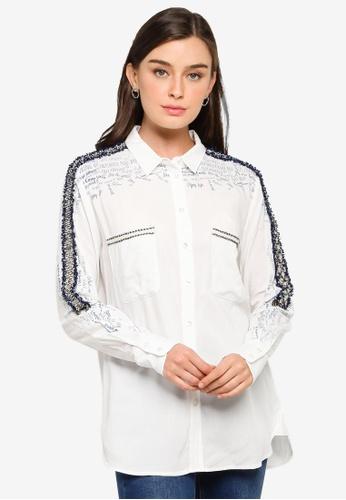 Desigual white Graffiti Print Shirt 7D6FAAAD17D56EGS_1