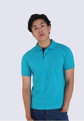 DENIZEN blue Denizen Slim Fit Polo F778EAA95C81F7GS_1