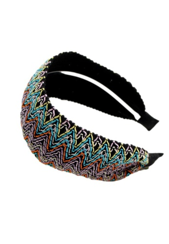 Kings Collection purple Ethnic Style Colorful Striped Headband (UPHA20151) 61A13AC54B544CGS_1