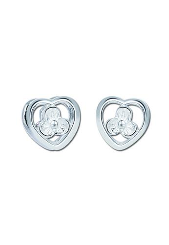 SC Tom Silver silver Heart Flower Stud Earring SC872AC86VNPPH_1