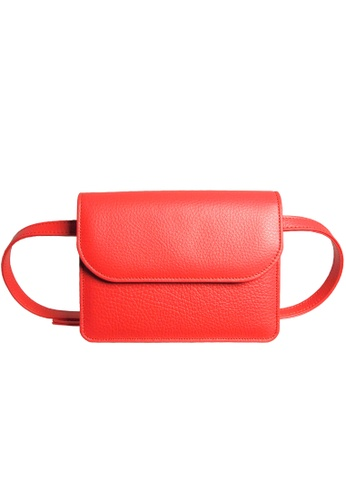 72 SMALLDIVE red 72 Smalldive Unisex Pebbled Calf Leather Belt Pouch in Coral 5B376ACD777D53GS_1