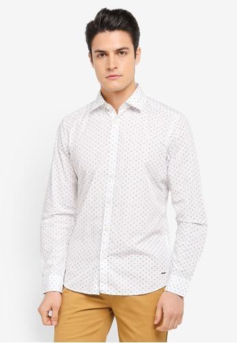 ESPRIT white Woven Long Sleeve Shirt ES374AA0SZTWMY_1