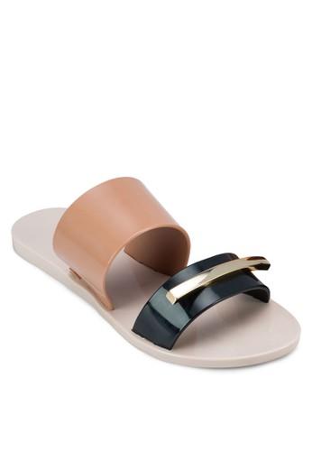 Wonderesprit香港門市full II 撞色雙帶拖鞋, 女鞋, 涼鞋